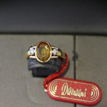 Anello Damiani oro e...