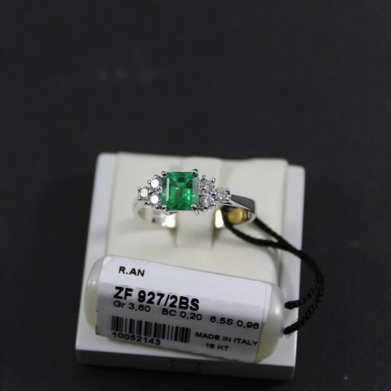 Anello RECARLO in oro bianco zaffiri e diamanti 0,50 ct.  ref.ZS610BZ