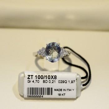 Anello 5 pietre RECARLO in oro bianco e diamanti 0,17 ct.  ref.XB010015
