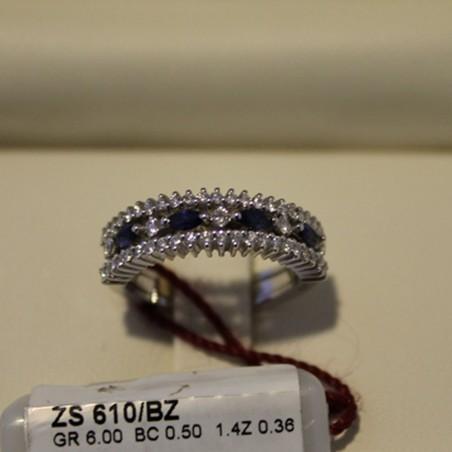 Anello 7 pietre RECARLO in oro bianco e diamanti 0,22 ct.  ref.ZC9685B