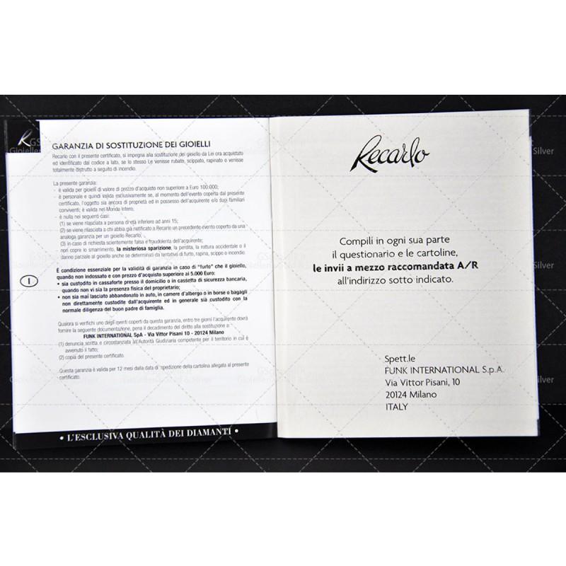 Anello Recarlo trilogy in oro bianco con diamanti taglio brillante ct.0,45 e 0,29 colore F VS.