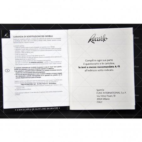 ANELLO Novelli Oro tricolore con diamanti 0,10 ct.