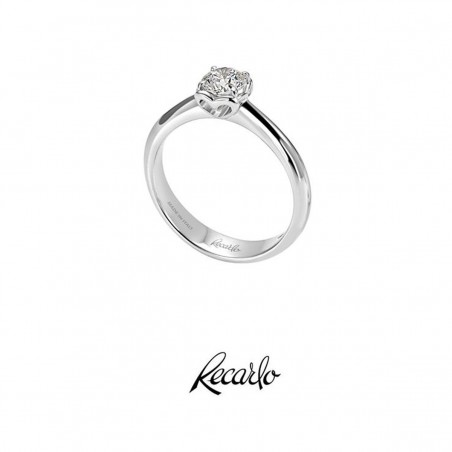 Girocollo RECARLO in oro bianco con diamante ct.0,145 Ref. Z562015