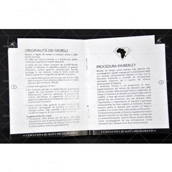 ANELLO SOLITARIO RECARLO XB730/0135 COLLEZ.ANNIVERSARY  IN ORO BIANCO E DIAMANTI CT.0135 COLORE F SI.