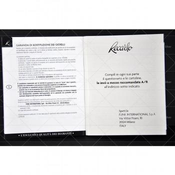ANELLO SOLITARIO RECARLO XE412/035 IN ORO BIANCO E DIAMANTI CT.0355 COLORE G SI.