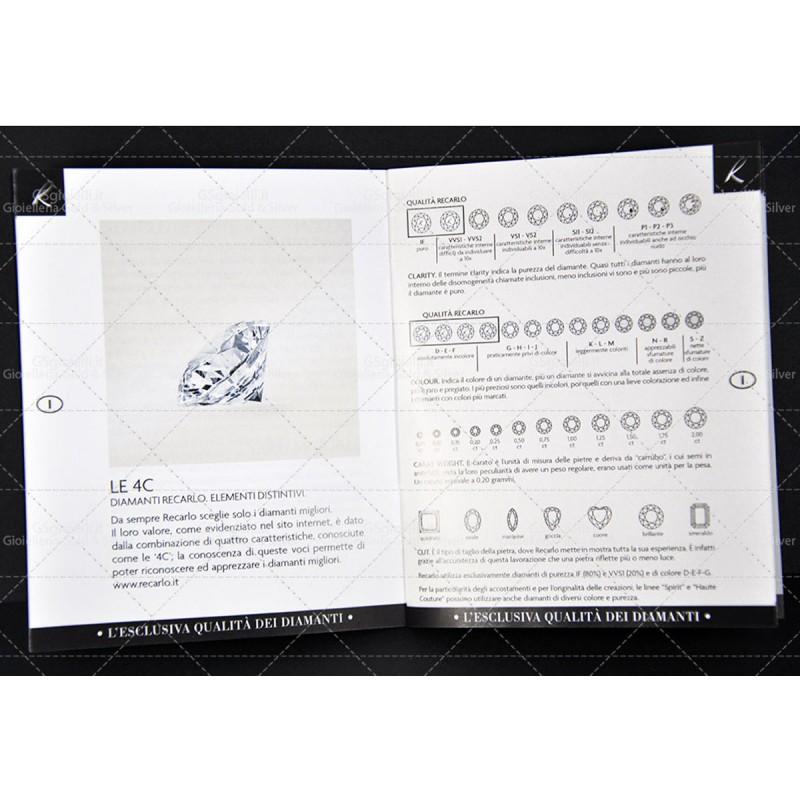 ANELLO RECARLO XE465/5BS3 IN ORO BIANCO CON SMERALDO CT.085 E DIAMANTI CT.025 COLORE F VS.