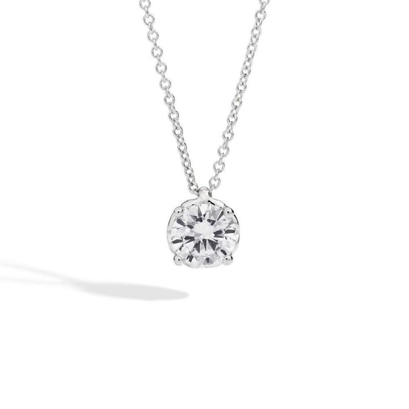 Anello solitario RECARLO in oro bianco e diamanti 0,40 ct.  ref.XB254/040