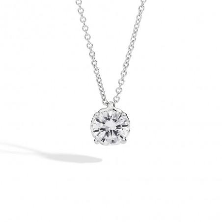 Anello solitario RECARLO in oro bianco e diamanti 0,10 ct.  ref.XB254/010