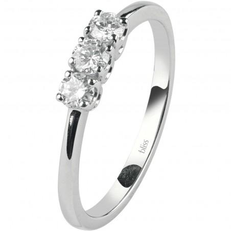 Anello RECARLO in oro bianco con diamanti e rubino  ref.XD808/BR2.