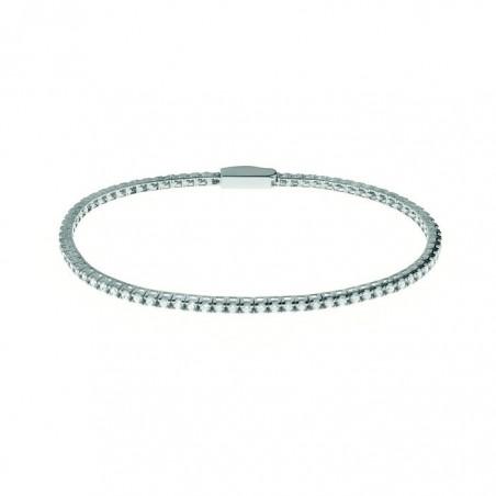 Anello RECALO ref.ZS455/BS in oro bianco con   diamanti taglio brillante ct.o.62 e smeraldo ct.1,38.